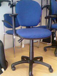 3x Blue Operator Chairs