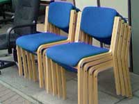 Wooden Chairs in Blue