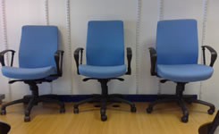 Light blue high back task chair
